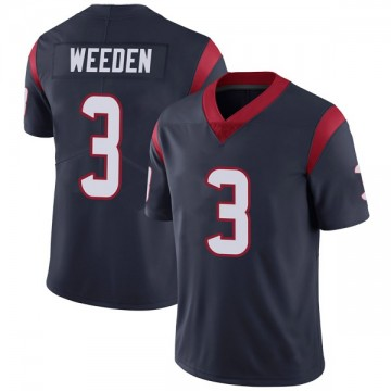 Youth Nike Houston Texans Brandon Weeden Navy Blue Team Color Vapor Untouchable Jersey - Limited