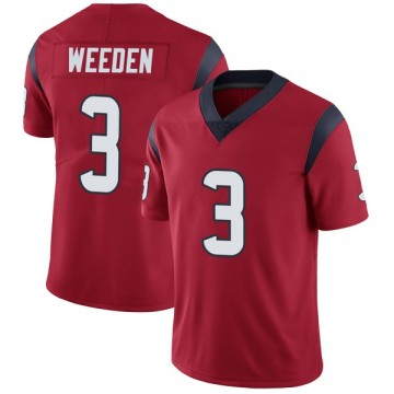 Youth Nike Houston Texans Brandon Weeden Red Alternate Vapor Untouchable Jersey - Limited