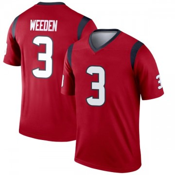 Youth Nike Houston Texans Brandon Weeden Red Jersey - Legend