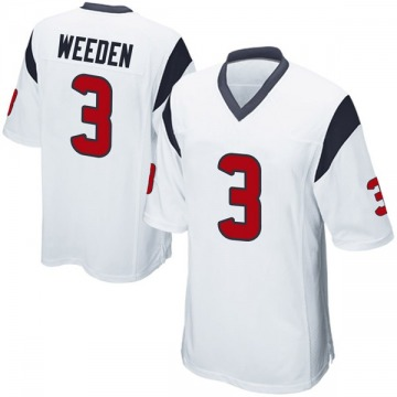 Youth Nike Houston Texans Brandon Weeden White Jersey - Game