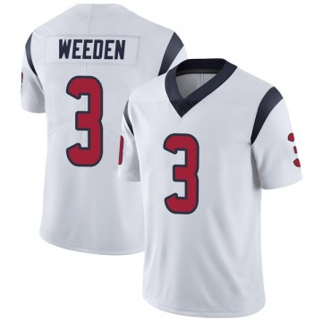 Youth Nike Houston Texans Brandon Weeden White Vapor Untouchable Jersey - Limited