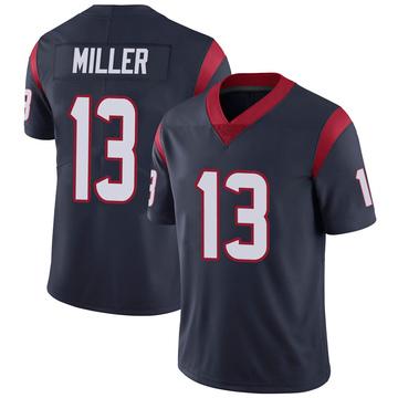 Youth Nike Houston Texans Braxton Miller Navy 100th Vapor Jersey - Limited