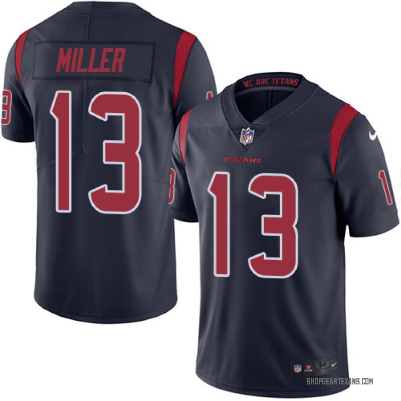 hot sale online 3a401 48ef1 Youth Nike Houston Texans Braxton Miller Navy Blue Color Rush Jersey -  Limited