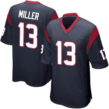 Youth Nike Houston Texans Braxton Miller Navy Blue Team Color Jersey - Game