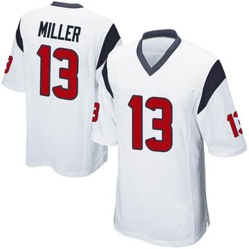 Youth Nike Houston Texans Braxton Miller White Jersey - Game