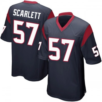 Youth Nike Houston Texans Brennan Scarlett Navy Blue Team Color Jersey - Game