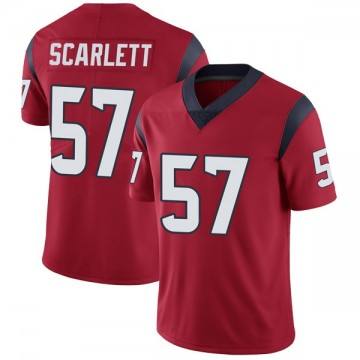 Youth Nike Houston Texans Brennan Scarlett Red Alternate Vapor Untouchable Jersey - Limited
