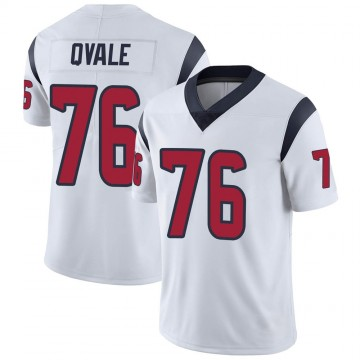 Youth Nike Houston Texans Brent Qvale White Vapor Untouchable Jersey - Limited