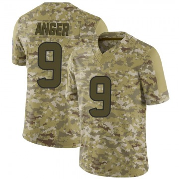 Youth Nike Houston Texans Bryan Anger Camo 2018 Salute to Service Jersey - Limited