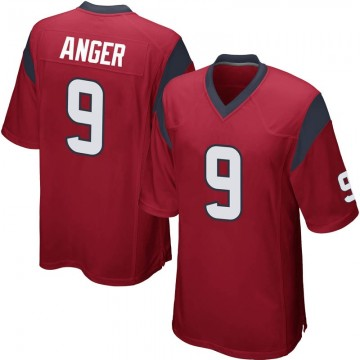 Youth Nike Houston Texans Bryan Anger Red Alternate Jersey - Game
