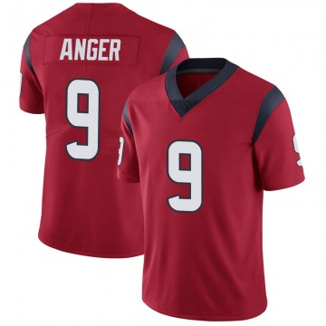 Youth Nike Houston Texans Bryan Anger Red Alternate Vapor Untouchable Jersey - Limited