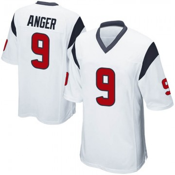 Youth Nike Houston Texans Bryan Anger White Jersey - Game