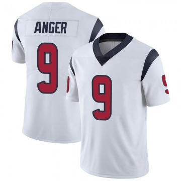Youth Nike Houston Texans Bryan Anger White Vapor Untouchable Jersey - Limited