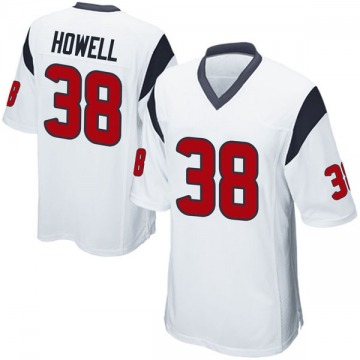 Youth Nike Houston Texans Buddy Howell White Jersey - Game