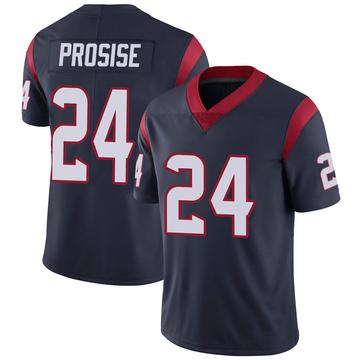 Youth Nike Houston Texans C.J. Prosise Navy 100th Vapor Jersey - Limited
