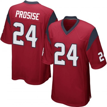 Youth Nike Houston Texans C.J. Prosise Red Alternate Jersey - Game