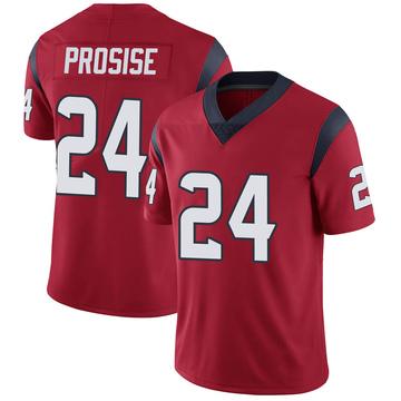 Youth Nike Houston Texans C.J. Prosise Red Alternate Vapor Untouchable Jersey - Limited