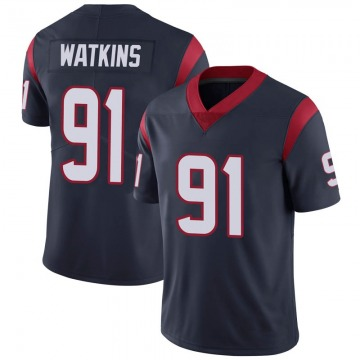 Youth Nike Houston Texans Carlos Watkins Navy 100th Vapor Jersey - Limited