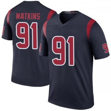 Youth Nike Houston Texans Carlos Watkins Navy Color Rush Jersey - Legend