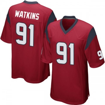Youth Nike Houston Texans Carlos Watkins Red Alternate Jersey - Game