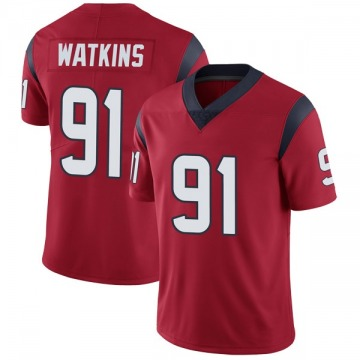Youth Nike Houston Texans Carlos Watkins Red Alternate Vapor Untouchable Jersey - Limited