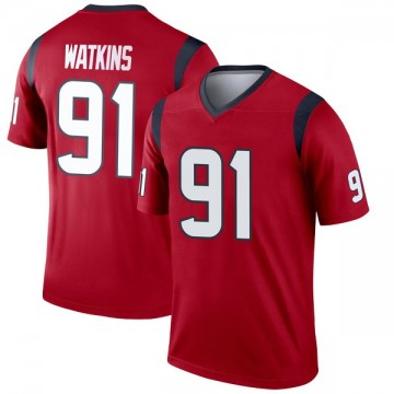 Youth Nike Houston Texans Carlos Watkins Red Jersey - Legend