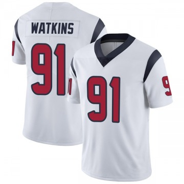 Youth Nike Houston Texans Carlos Watkins White Vapor Untouchable Jersey - Limited