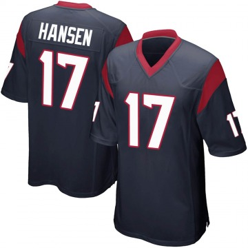 Youth Nike Houston Texans Chad Hansen Navy Blue Team Color Jersey - Game