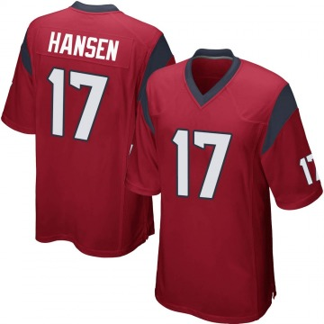 Youth Nike Houston Texans Chad Hansen Red Alternate Jersey - Game