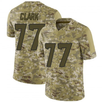 Youth Nike Houston Texans Chris Clark Camo 2018 Salute to Service Jersey - Limited