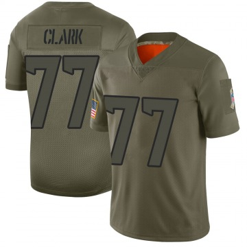 Youth Nike Houston Texans Chris Clark Camo 2019 Salute to Service Jersey - Limited