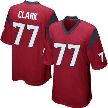 Youth Nike Houston Texans Chris Clark Red Alternate Jersey - Game