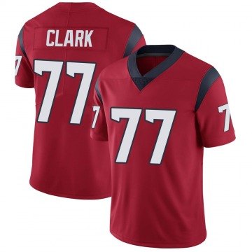 Youth Nike Houston Texans Chris Clark Red Alternate Vapor Untouchable Jersey - Limited