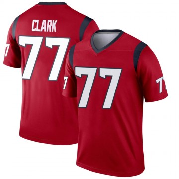 Youth Nike Houston Texans Chris Clark Red Jersey - Legend