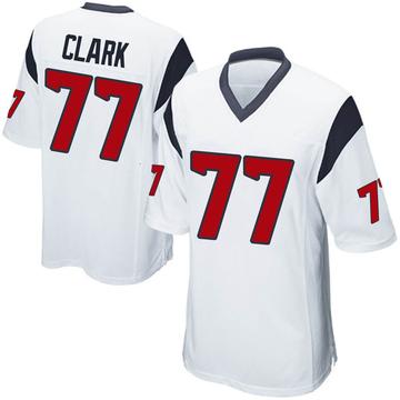 Youth Nike Houston Texans Chris Clark White Jersey - Game