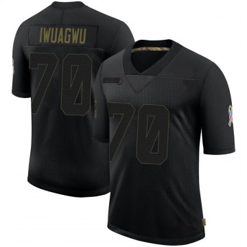 Youth Nike Houston Texans Cordel Iwuagwu Black 2020 Salute To Service Jersey - Limited