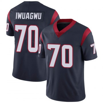 Youth Nike Houston Texans Cordel Iwuagwu Navy Blue Team Color Vapor Untouchable Jersey - Limited