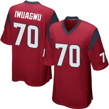 Youth Nike Houston Texans Cordel Iwuagwu Red Alternate Jersey - Game