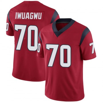 Youth Nike Houston Texans Cordel Iwuagwu Red Alternate Vapor Untouchable Jersey - Limited