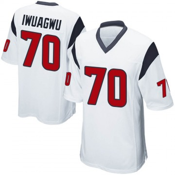Youth Nike Houston Texans Cordel Iwuagwu White Jersey - Game