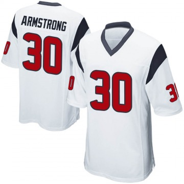 Youth Nike Houston Texans Cornell Armstrong White Jersey - Game