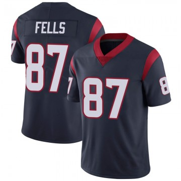 Youth Nike Houston Texans Darren Fells Navy 100th Vapor Jersey - Limited