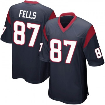 Youth Nike Houston Texans Darren Fells Navy Blue Team Color Jersey - Game