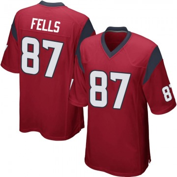 Youth Nike Houston Texans Darren Fells Red Alternate Jersey - Game
