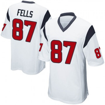 Youth Nike Houston Texans Darren Fells White Jersey - Game