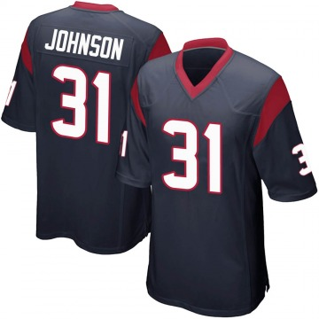 Youth Nike Houston Texans David Johnson Navy Blue Team Color Jersey - Game