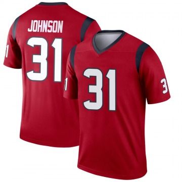 Youth Nike Houston Texans David Johnson Red Jersey - Legend