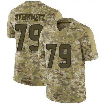 Youth Nike Houston Texans David Steinmetz Camo 2018 Salute to Service Jersey - Limited
