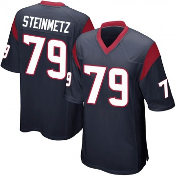 Youth Nike Houston Texans David Steinmetz Navy Blue Team Color Jersey - Game