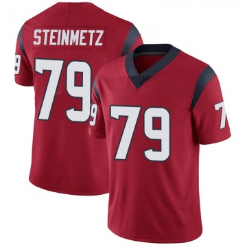 Youth Nike Houston Texans David Steinmetz Red Alternate Vapor Untouchable Jersey - Limited